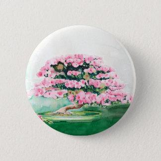 Pink Bonsai 6 Cm Round Badge