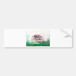 Pink Bonsai Bumper Sticker