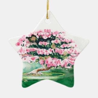 Pink Bonsai Ceramic Ornament