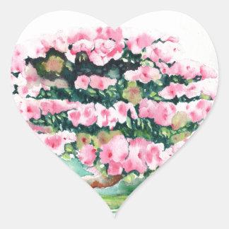 Pink Bonsai Heart Sticker