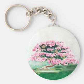 Pink Bonsai Key Ring
