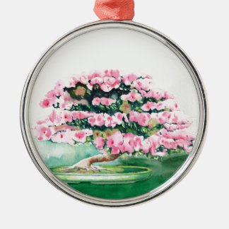 Pink Bonsai Metal Ornament