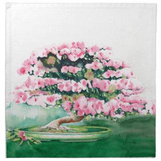Pink Bonsai Napkin