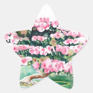 Pink Bonsai Star Sticker