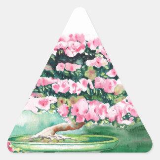Pink Bonsai Triangle Sticker