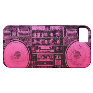 Pink boombox iPhone 5 case