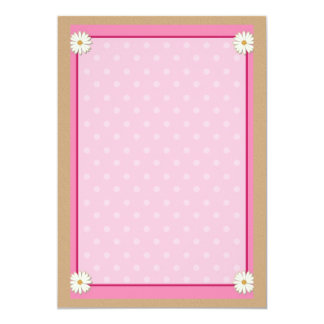 Pink Border on Handcrafted Acrylic Texture Sheet11 13 Cm X 18 Cm Invitation Card