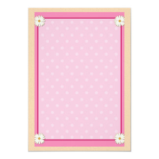 Pink Border on Handcrafted Acrylic Texture Sheet12 Personalized Invitation