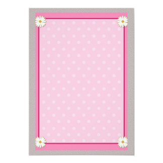 Pink Border on Handcrafted Acrylic Texture Sheet2 Personalized Invitation