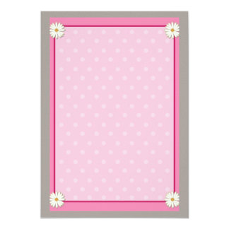 Pink Border on Handcrafted Acrylic Texture Sheet3 13 Cm X 18 Cm Invitation Card