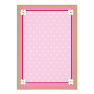 Pink Border on Handcrafted Acrylic Texture Sheet3 Custom Invitation