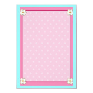 Pink Border on Handcrafted Acrylic Texture Sheet4 13 Cm X 18 Cm Invitation Card