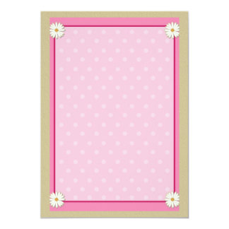 Pink Border on Handcrafted Acrylic Texture Sheet6 Invitation