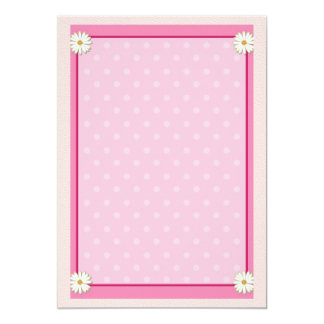 Pink Border on Handcrafted Acrylic Texture Sheet7 Personalized Invitation