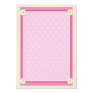 Pink Border on Handcrafted Acrylic Texture Sheet9 13 Cm X 18 Cm Invitation Card