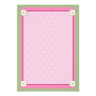 Pink Border on Handcrafted Acrylic Texture Sheet Personalized Invitations