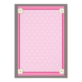 Pink Border on Handcrafted Acrylic Texture  V22 13 Cm X 18 Cm Invitation Card