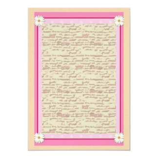 Pink Border on Handcrafted Acrylic Texture V23 13 Cm X 18 Cm Invitation Card