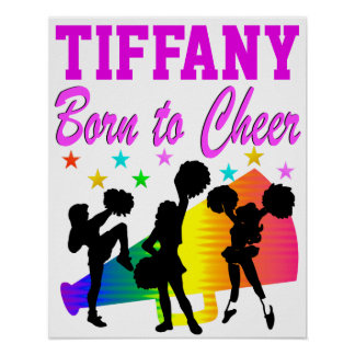 PINK BORN TO CHEER PERSONALIZED POSTER