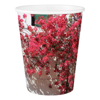 Pink Bougainvillea Farm Wall Party Paper Cup