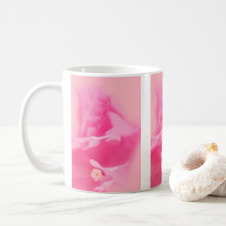 Pink Bougainvillea Leaves and Flower Close-up Coffee Mug