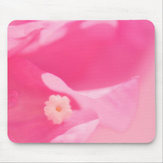 Pink Bougainvillea Leaves and Flower Close-up Mouse Pad