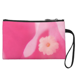 Pink Bougainvillea Leaves and Flower Close-up Wristlet