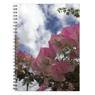 Pink bougainvillea notebook