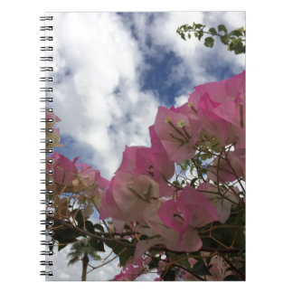Pink bougainvillea spiral notebook