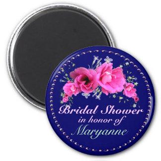 Pink Bouquet Bridal Shower Magnets