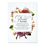 Pink Bouquet Floral Bridal Shower 13 Cm X 18 Cm Invitation Card