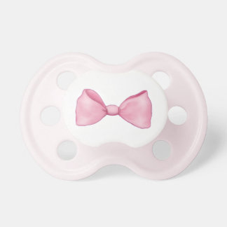 Pink Bow Baby Girl Pacifier