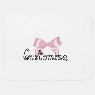Pink Bow Collection Baby Blanket