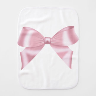 Pink Bow Collection Burp Cloth