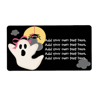 Pink Bow Ghost Spider Labels