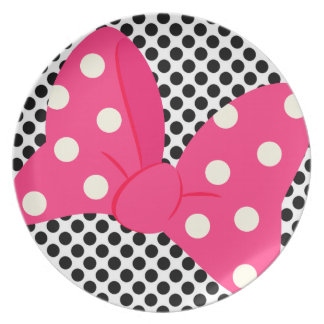 Pink Bow Girly Plate