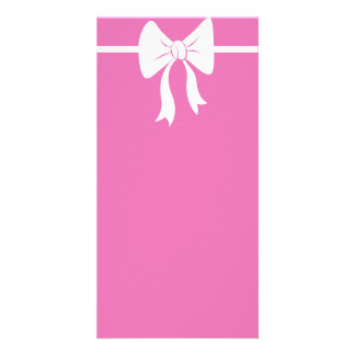 Pink Bow Invite Photo Cards