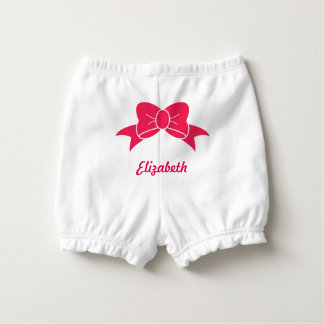 Pink Bow Personalized Nappy Cover