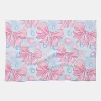 Pink Bow Tea Towel
