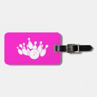 Pink Bowling Bag Tag