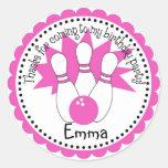 Pink Bowling Ball Stickers