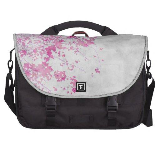 """Pink Branches"" Bag Laptop Messenger Bag"