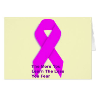 Pink Breast Cancer Aware Greeting Card