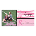 Pink Breast Cancer Awareness Photo Christmas Card Picture Card