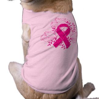 Pink Breast Cancer awareness ribbon flower outline Shirt