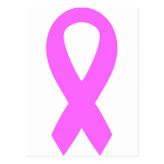 Pink Breast Cancer Awareness Ribbon Postcard