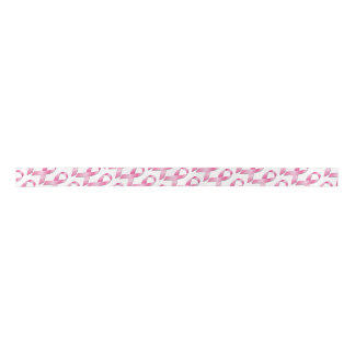 Pink Breast Cancer Awareness Ribbon Satin Ribbon