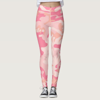Pink Breast Cancer Cure Camo Leggings