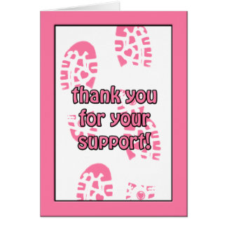Pink Breast Cancer Walk Thank You Note Card