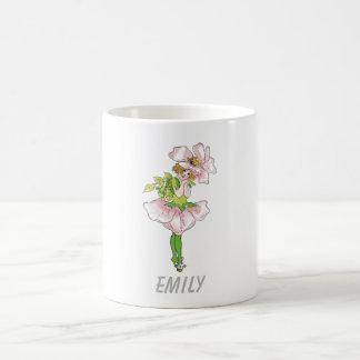 Pink Briar Rose Flower Floral Funny Cute Girl Coffee Mug